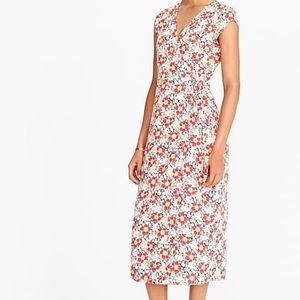 Jcrew mercantile wrap dress, floral print